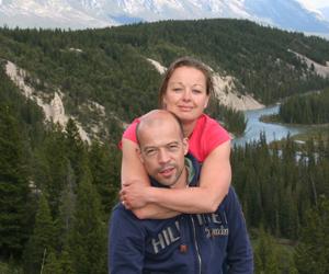 Noor en Rogier in Canada