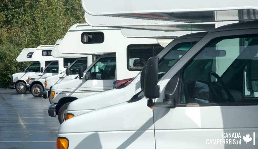 Overzicht camperverhuurbedrijven West-Canada