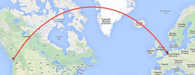 Reisschema dag 1 - Bron: Google Maps