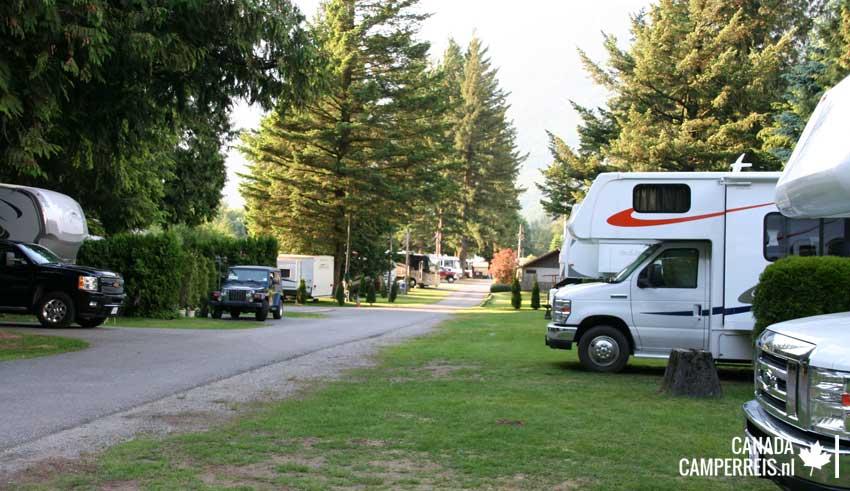 Wild Rose RV Park in Hope Canada
