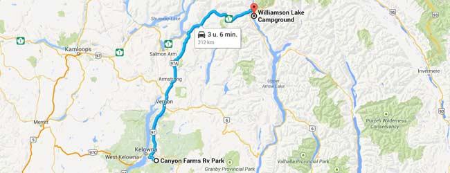 Reisschema dag 5 - (c) Google Maps