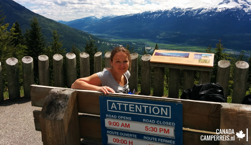 Snow Forest Viewpoint op Mount Revelstoke Canada