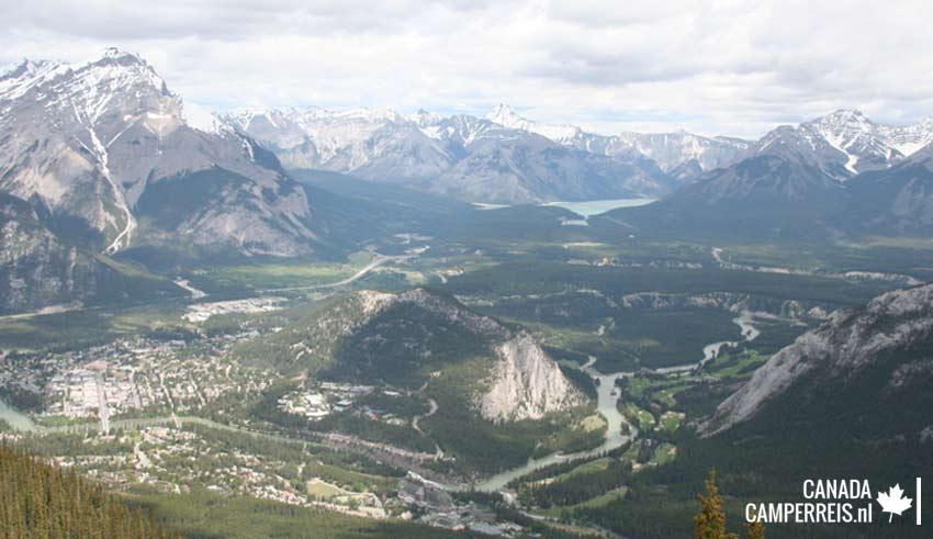 Sulphur Mountain uitzicht Banff