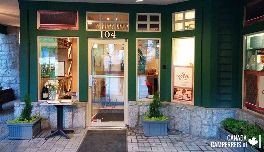 Resturant Alta Bistro in Whistler