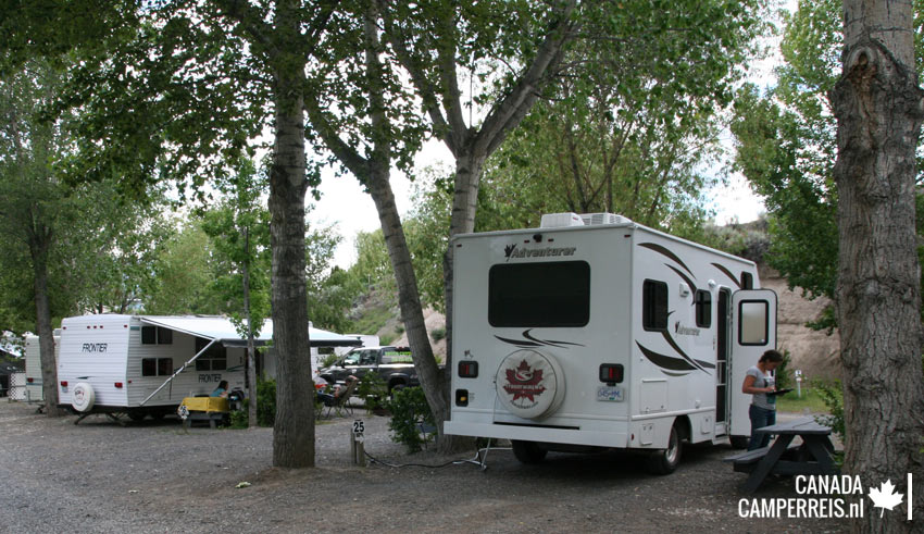 Brookside Campsite in Cache Creek