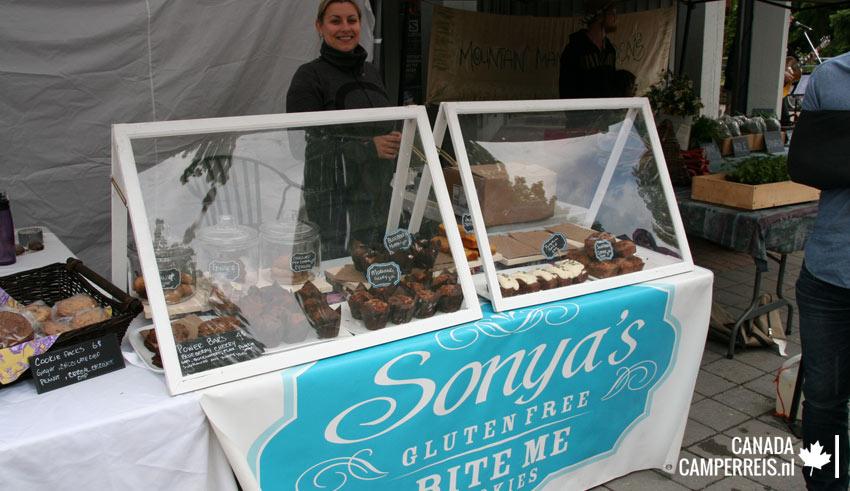 Sundays Farmers markt in Whistler