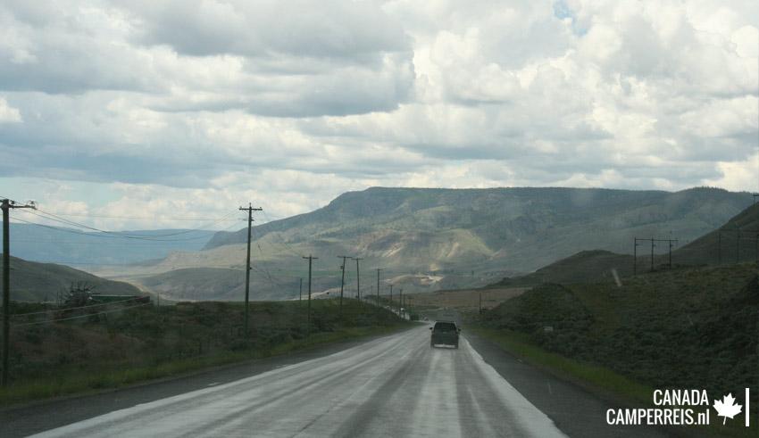 Gold Rush Trail richting Cache Creek