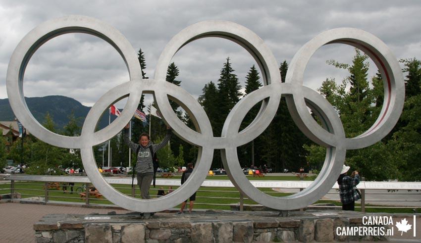 Olymipische ringen in Whistler