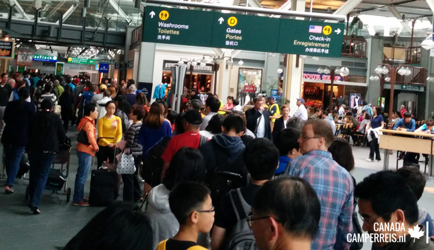 Rij op airport Vancouver Canada