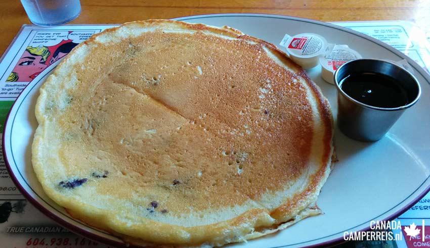 Pancake in Southside Diner in Whistler