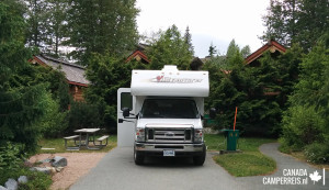 Review camping Riverside Resort Whistler